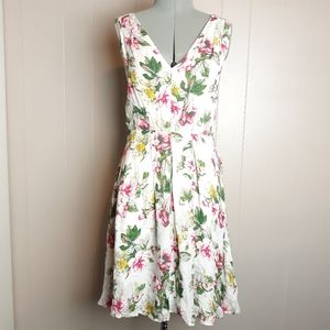 Joie silk floral midi dress
